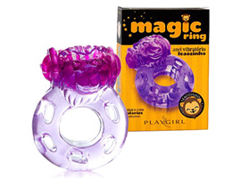 Magic Vibrating Ring Purple - Anel de silicone
