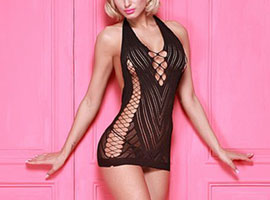 Kingspearl Erotic Mini Dress Black
